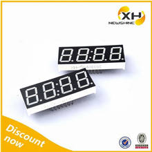 NEWSHINE XH-8041BWW Common Anode White Color 0.8 Inch 7 Segment Digital Tube Display