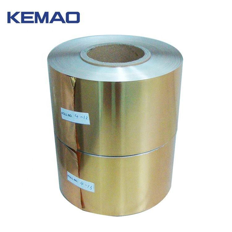 Food Packaging Jumbo Roll Gold Coin Aluminum Foil For Chocolate Wrapper