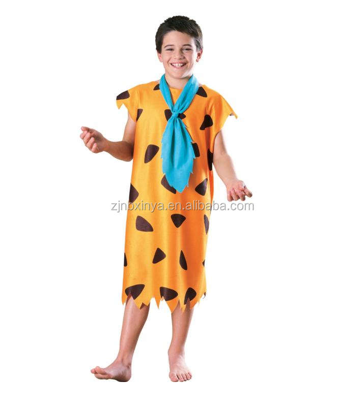 New Design Best Seller Funny Fred Flintstone Carnival Party Cosplay Costume Wildman Caveman Costumes