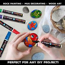 Paint Pens for Rock Painting - Wood, Glass, Metal and Ceramic Works On Almost All Surfaces