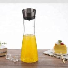Glass Water Carafe With Lid And Protective Pour Drip Spout 1L Fridge Water Pitcher Bottle Dispenser
