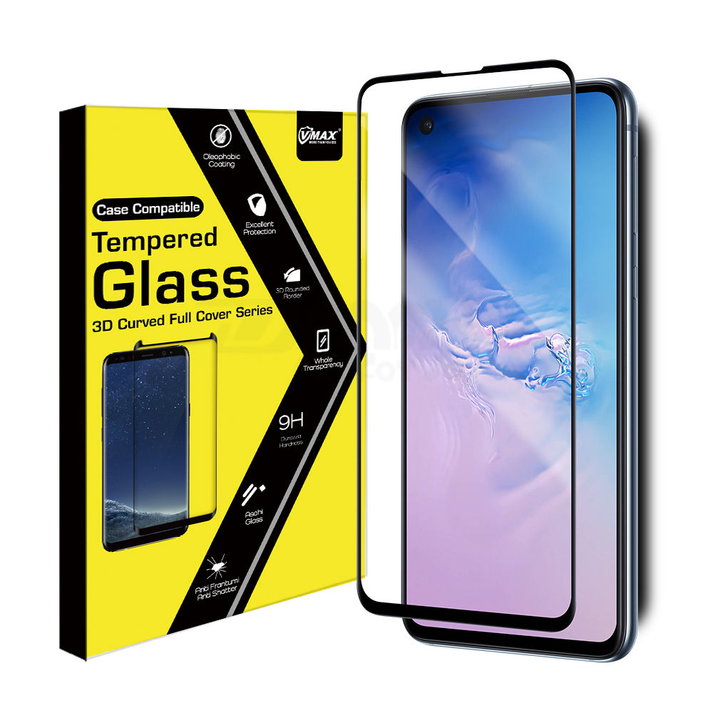 3D rounded edge screen protector guard for Samsung Galaxy S10 Lite protector glass