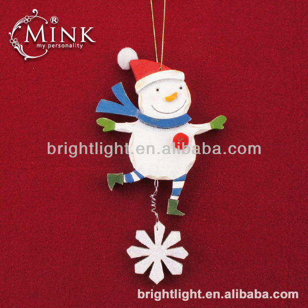 Hanging EVA Foam craft Snowman with snowflake Christmas Decorations