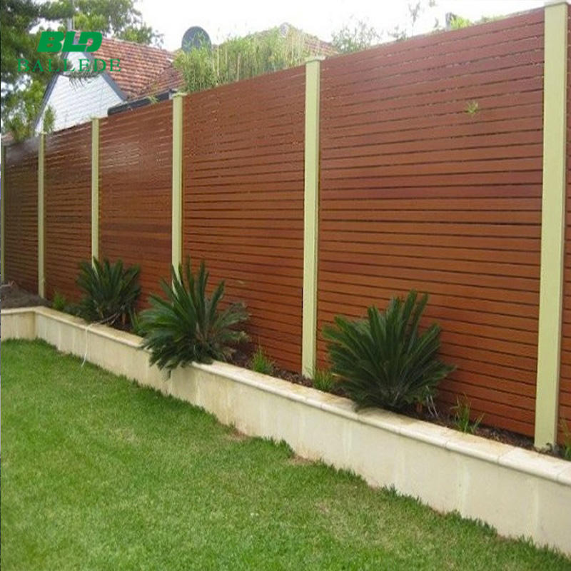 New design fresh air decorative wood color aluminum louver fence panels