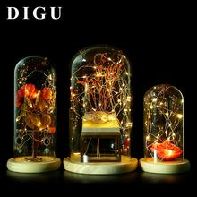 DIGU Jewelry display prop glass decoration window counter cover display props clear glass dome for jewelry display