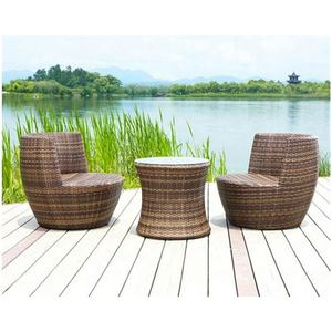 Wholesale furniture with two cheap tables wicker round garden chairs patio rattan and chair outdoor coffee table set