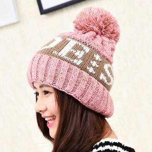 Brand Beanies Knit Winter Hat Caps Skullies Bonnet Winter Fur Warm Baggy Wool Knitted Hat