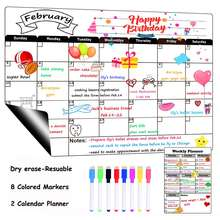 Hot sale  Monthly&Weekly Calendar Whiteboard Organizer Planner  Dry Erase Calendar  Magnetic Board