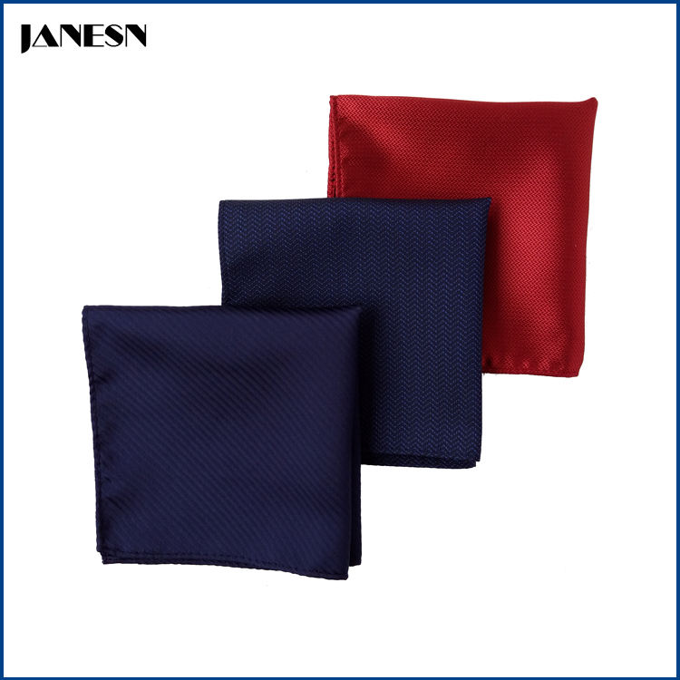 custom cheap 100% polyester pure color men's handkerchief multiple styles