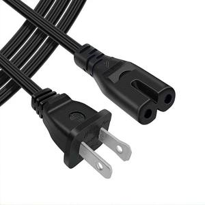 6Ft 2 Prong AC Wall Power Kabel 2 Slot Cord voor HP Dell Samsung Sony Asus Acer Toshiba Laptop Charger