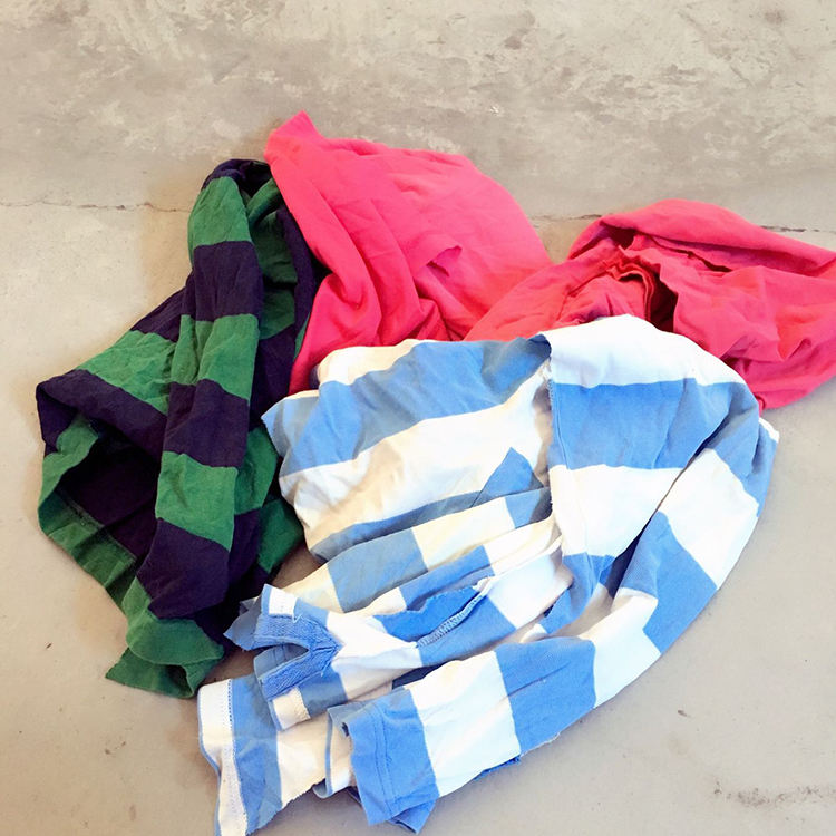 100% Cotton Mixed Colored T-shirt Wiping Cleaning Rags