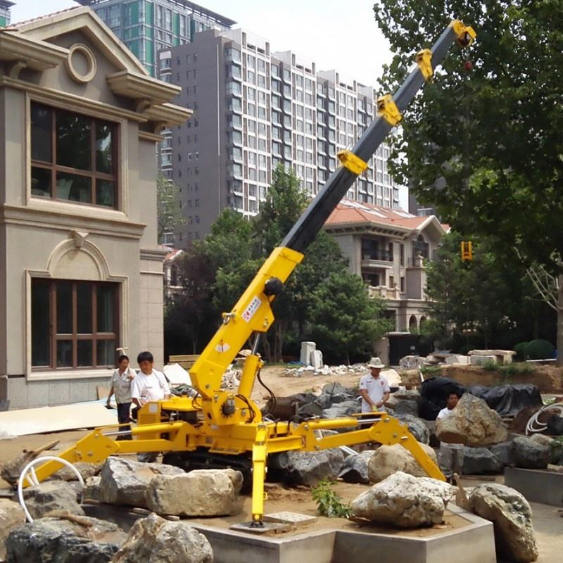 Spider Mini Crane 3 tons mini crawler crane price