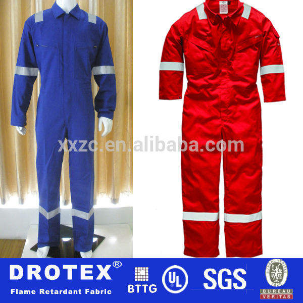 Pyrovatex обработанных 100% хлопка 350 гр dickies промышленных противопоёарной retardant костюм, комбинезон на зиму