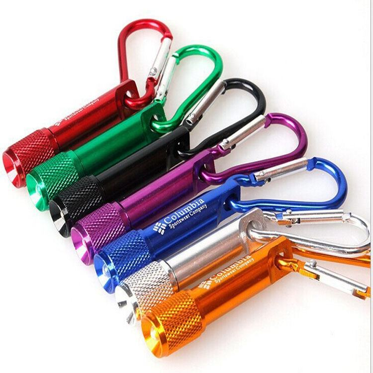 Wholesale Mini LED Flashlight Carabiner Mountaineering Buckle Torch Clip Keychain