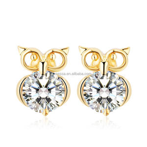 Fashion Owl Earring Women Jewelry Wholesale HZS-0095