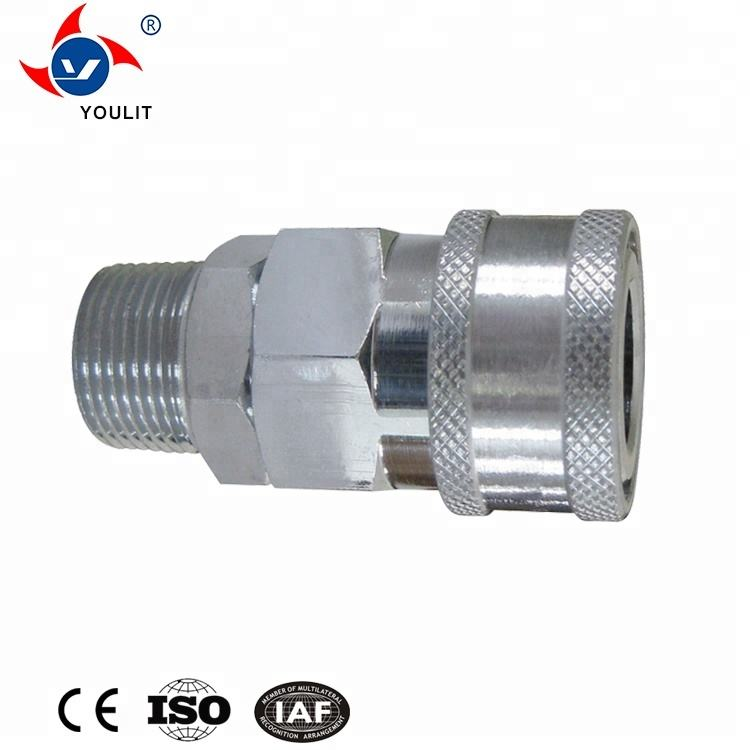 Stainless Steel Quick Connect Release Coupling Hydraulic Disconnect Hose Fittings