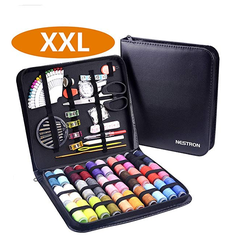 Wholesale leather basic sewing kit with Mending Supplies and Zipper Bag