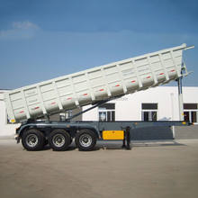 Hot model 3 axles dump semi trailer/tipper semi trailer/tipper trailer for sale