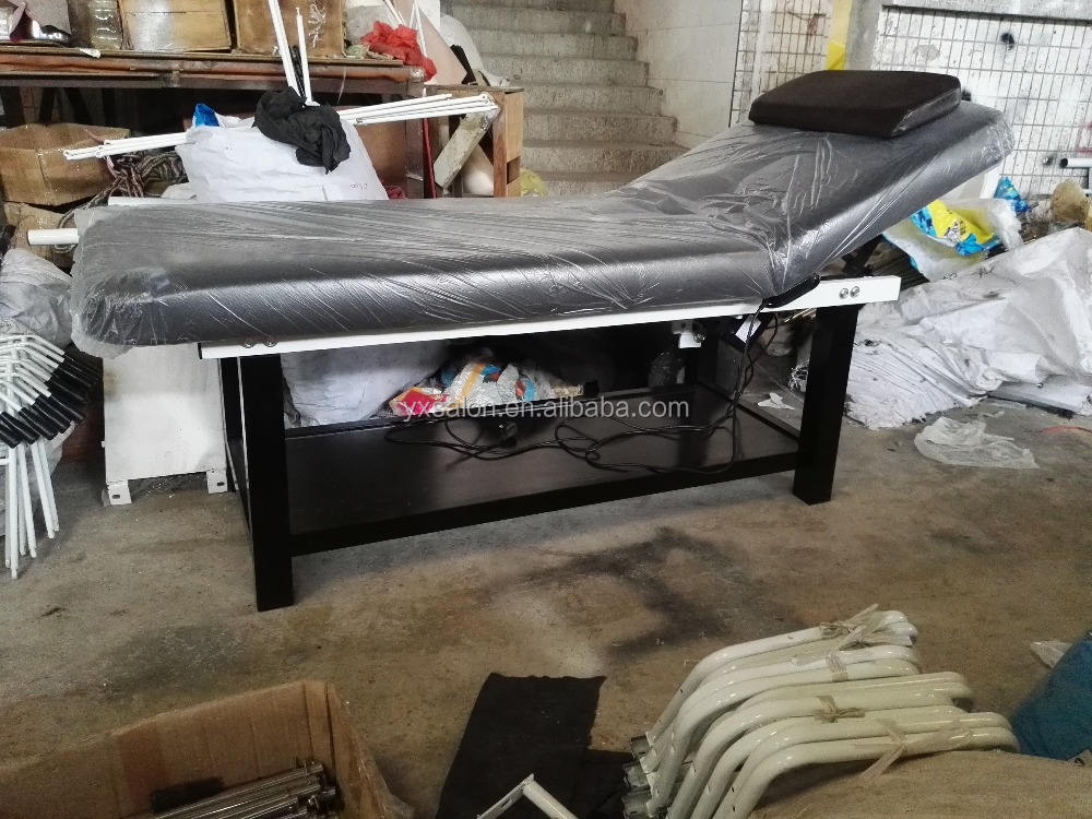 2017 Very Strong Heavy Duty Dark Brown Electric Solid Wood Massage Bed(DCA315)