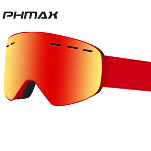 PHMAX Brand 6 Colors Ski Goggles Double Layers UV400 Anti-fog Big Ski Mask Glasses Skiing Men Women Snow Snowboard Goggles