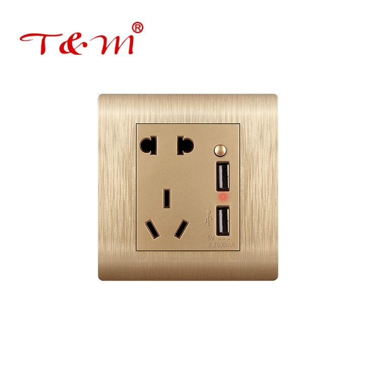T&M universal rechargeable grounding multi plug wall Sockets