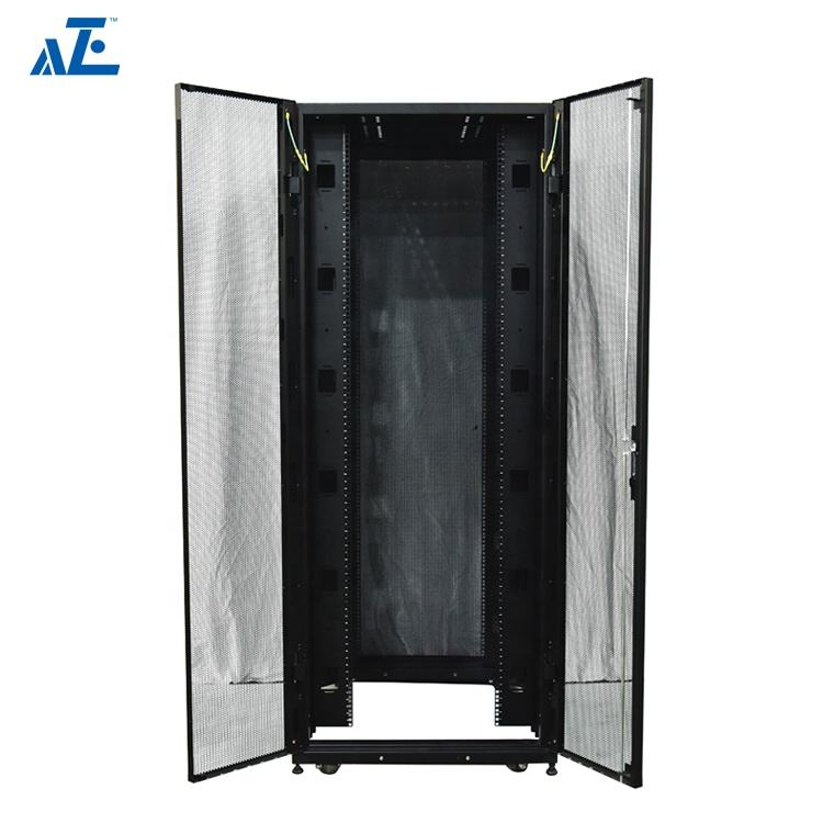 42u 45u Floor standing Server Rack with Universal Server Rack Rails for Networking and Blade Applications