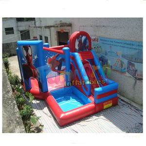 Cheap inflatable bouncer inflatable spiderman jumper bouncy castle