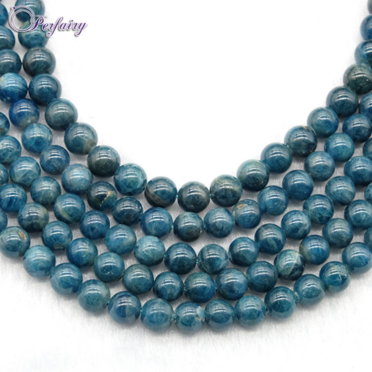 Wholesale fashion precious blue apatite jewelry supplies gemstone bead