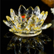 Colorful Crystal Lotus/glass Lotus Flower For Holiday And Wedding Favors,Crystal Lotus Paperweight