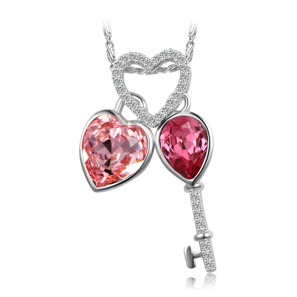 44567 xuping 운 키 necklace jewelry, heart necklace 결정 from Swarovski women 모조 보석