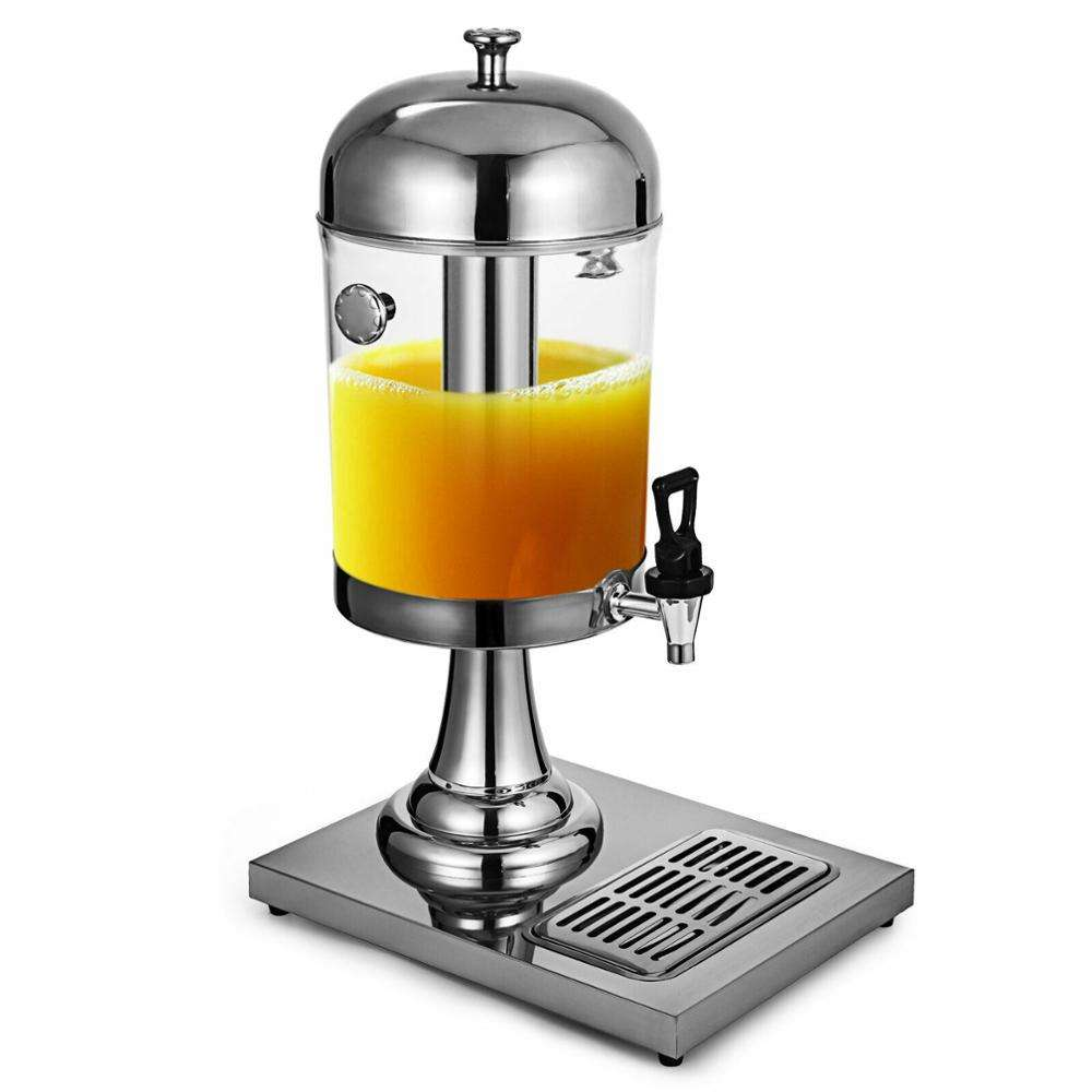 Hotel Restaurant Stainless Steel Cold Fresh Fruit Drinking Juice Milk Tea Dispenser Machine With Tap