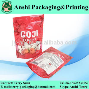 Debout zip top sécuritaire des aliments en plastique d'emballage sac trépied
