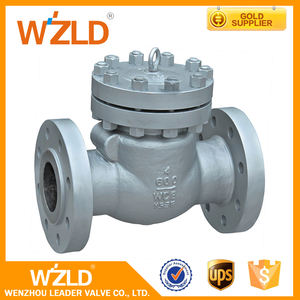 WZLD 6 Inch Medium Temperature Pn16 Casting Steel Dual Plate Swing Check Valve 200WOG