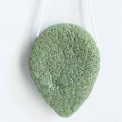 100% Natural Green Tea Konjac Sponge, Only Natural Fiber Konjac Sponge Facial and Skin cleansing