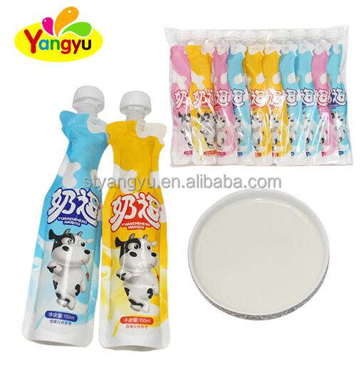 Milk flavor jelly with funny colorful package and cheap price