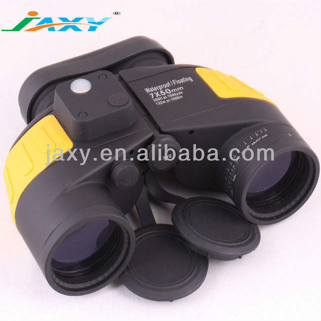 Army Waterproof Floating Binoculars with Compass for Navigation 7x50 Bak4 Military Binoculars