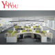 12 people staff partition triangle office furniture workstation call center furniture workstation office furniture table