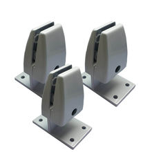 Aluminum Alloy Office Desk Glass Clamp Partition Support Bracket Shelf Screen Clip Holder