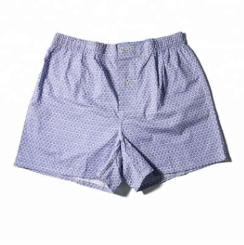 Ready To Ship Mens Fine Quality Custom Oem Production Cotton Woven Boxer Shorts