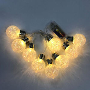 Round Bulb Shaped String Night LED Light for Christmas Party Room Holiday Wedding Party Home Room Decoration
