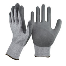 SRSAFETY PU coated machine work cut resistant level 5 glove