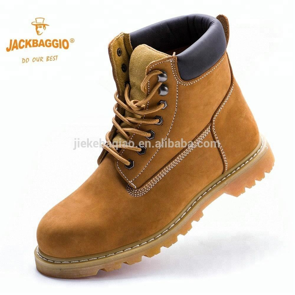Genuine Leather Men Work Safety Shoes Steel Toe EVA Insole Military Boot 2017
