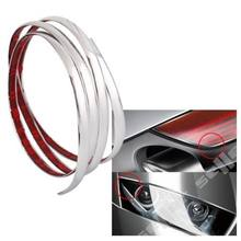 Silver Car Chrome Styling Decoration Moulding Trim Strip 15mm 2m