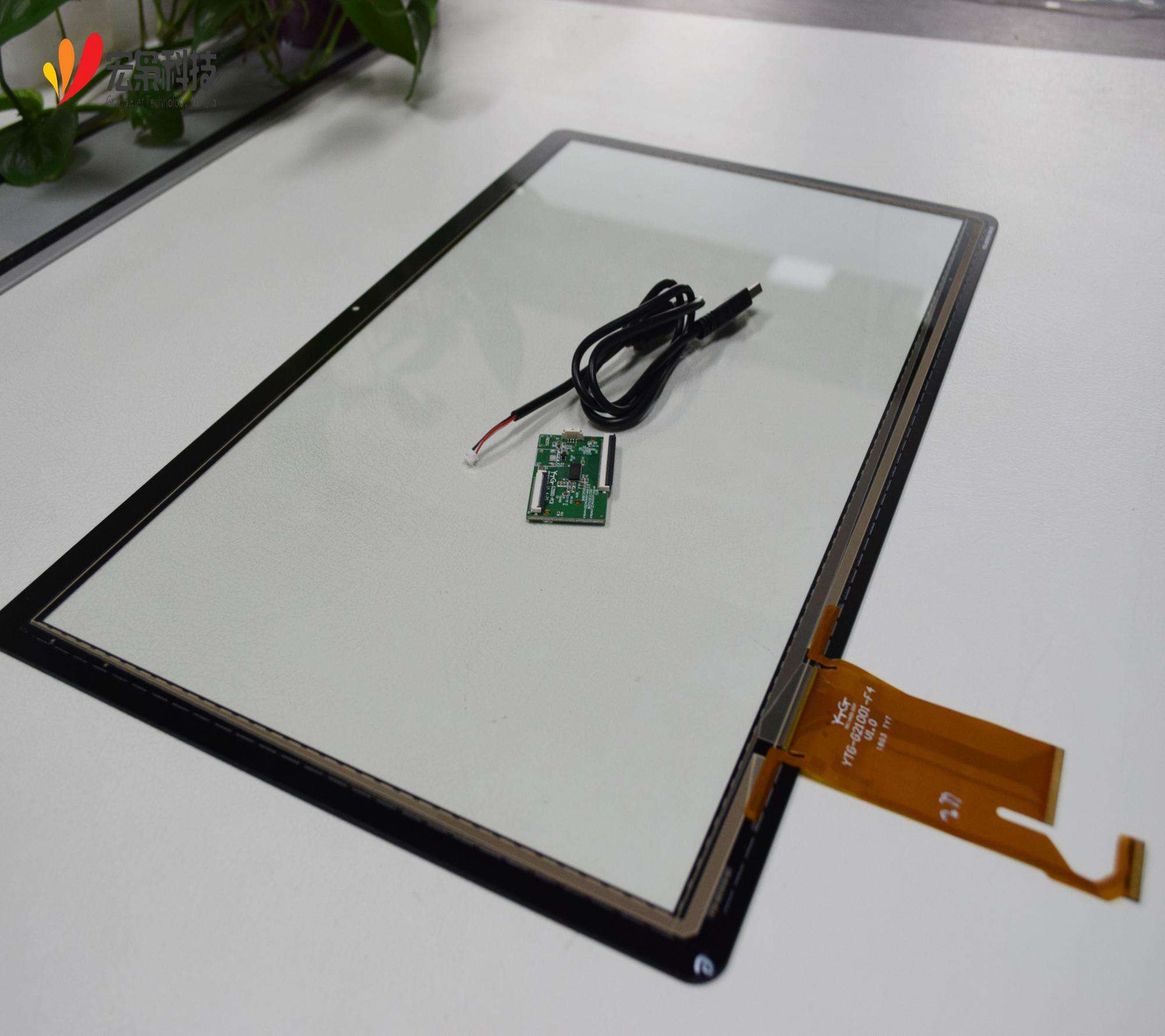 For Industrial Application [ Glass Touch ] Glass Glass Capacitive Transparent Glass Capacitive Multi 21.5 Inch Touch Screen Panel