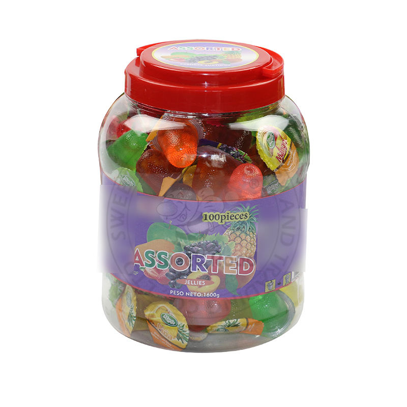 Assorted Fruit Flavor Jelly cup in jar