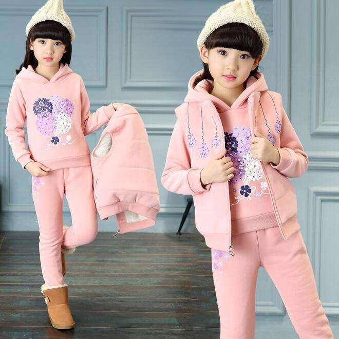 cy30144a children's clothing 2017 baby outlet clothes lovely teen kids girls sets