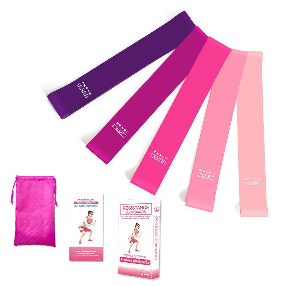Zakerda gradient pink exercise Loop Band Resistance Bands