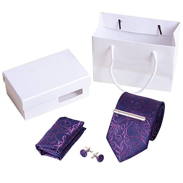 100% silk fabric neck tie with gift box set