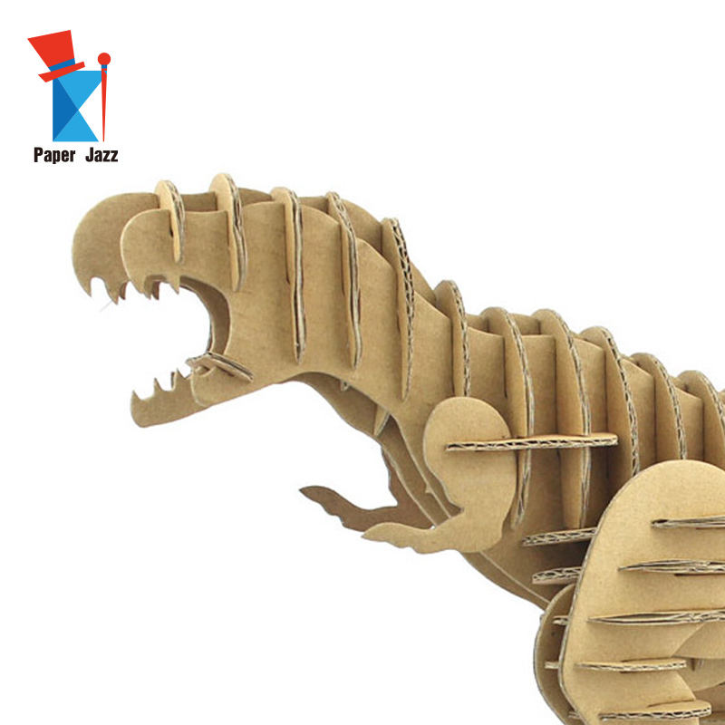 Cardboard Design 3D Puzzle Dinosaur Tyrannosaurus Rex Diy animal puzzle children education model puzzle