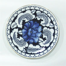 Chinese style dinnerware round hotel used blue and white porcelain dinner plate